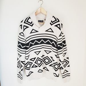 Chaps • Abstract Print Oversized Sweater